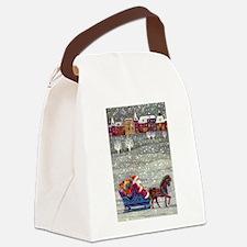 Vintage Christmas Santa Claus Canvas Lunch Bag
