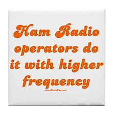 Ham Radio Operators Do It Wit Tile Coaster
