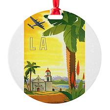 Vintage Travel Poster Los Angeles Ornament