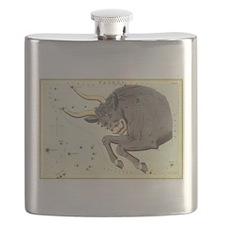 Vintage Celestial Zodiac, Taurus Flask