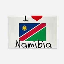I HEART NAMIBIA FLAG Rectangle Magnet