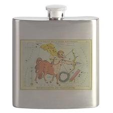 Vintage Celestial Zodiac, Sagittarius Flask