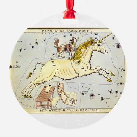 Vintage Unicorn Constellation Ornament