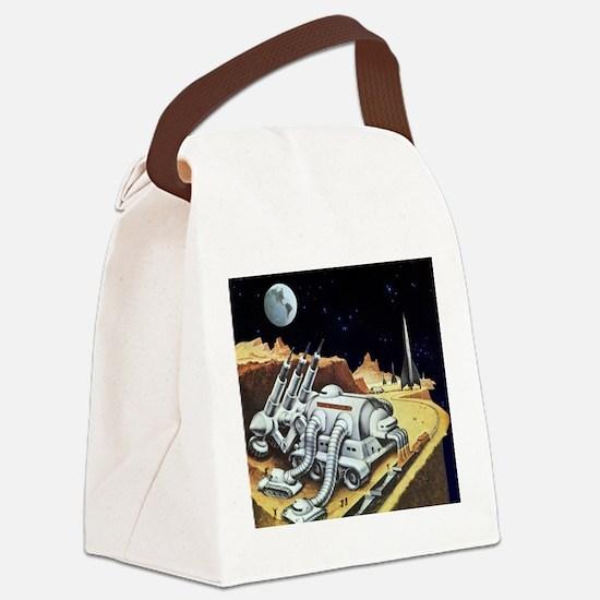 Vintage Science Fiction Canvas Lunch Bag