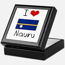 I HEART NAURU FLAG Keepsake Box