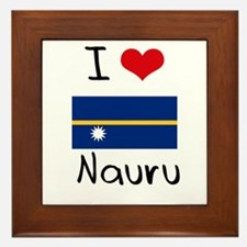I HEART NAURU FLAG Framed Tile