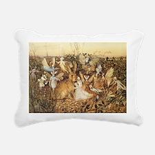 Vintage Fairy's Twilight Rectangular Canvas Pillow