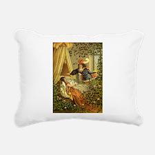 Vintage Sleeping Beauty Rectangular Canvas Pillow
