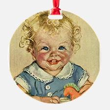 Vintage Cute Baby Ornament