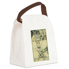 On The Garden Wall Canvas Lunch Bag