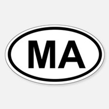 Massachusetts Oval Decal