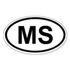 Mississipi Oval Decal