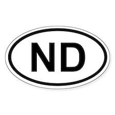 North Dakota Oval Decal