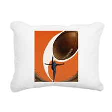 Vintage Sports Football Rectangular Canvas Pillow