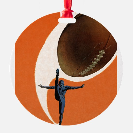 Vintage Sports Football Ornament