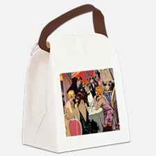 Vintage Cocktail Party Canvas Lunch Bag