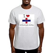 I HEART NETHERLANDS ANTILLES FLAG T-Shirt
