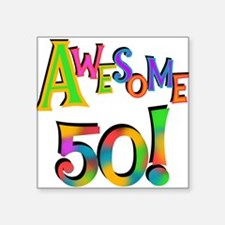 Awesome 50 Birthday Sticker