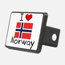 I HEART NORWAY FLAG Hitch Cover