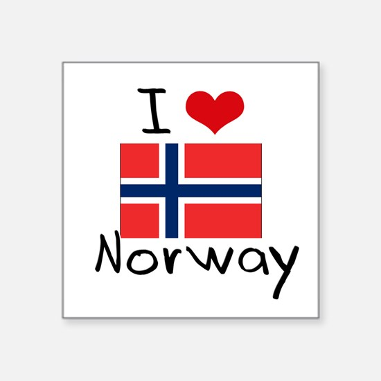 I HEART NORWAY FLAG Sticker