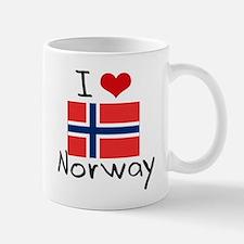 I HEART NORWAY FLAG Mug