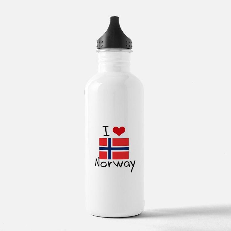 I HEART NORWAY FLAG Water Bottle