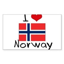 I HEART NORWAY FLAG Decal