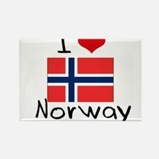 I HEART NORWAY FLAG Rectangle Magnet