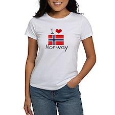 I HEART NORWAY FLAG T-Shirt