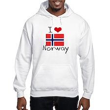 I HEART NORWAY FLAG Hoodie