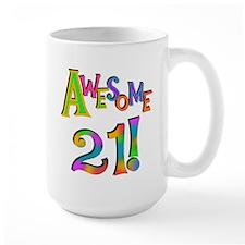 Awesome 21 Birthday Mug