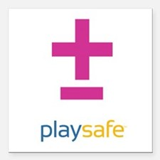 "PlaySafe Pride Square Car Magnet 3"" x 3"""