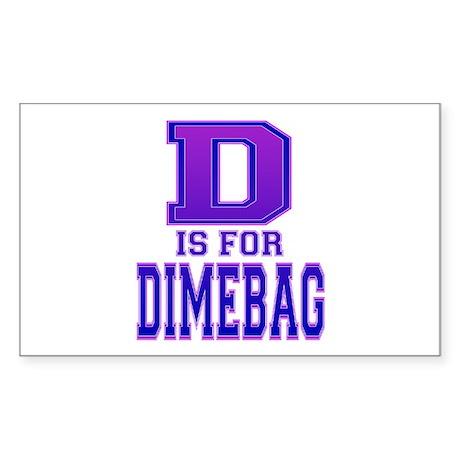 D is for Dimebag Rectangle Sticker
