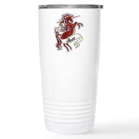 Rose Unicorn Stainless Steel Travel Mug