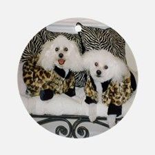LEOPARD JACKET ORNAMENT (ROUND)