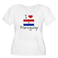 I HEART PARAGUAY FLAG Plus Size T-Shirt