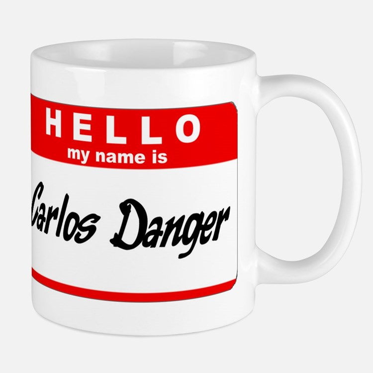 Carlos Danger Nametag Mug