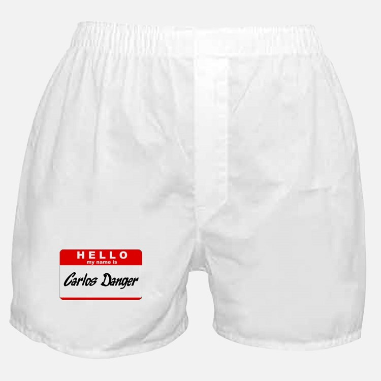 Carlos Danger Nametag Boxer Shorts