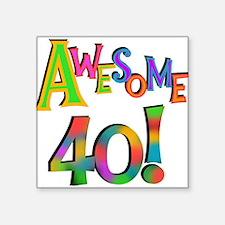 Awesome 40 Birthday Sticker