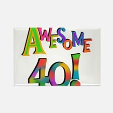 Awesome 40 Birthday Rectangle Magnet