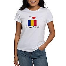 I HEART ROMANIA FLAG T-Shirt