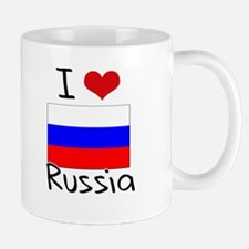 I HEART RUSSIA FLAG Mug