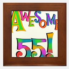 Awesome 55 Birthday Framed Tile