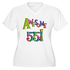 Awesome 55 Birthday Plus Size T-Shirt