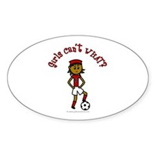 Dark Red Soccer Oval Decal