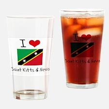 I HEART SAINT KITTS & NEVIS FLAG Drinking Glass