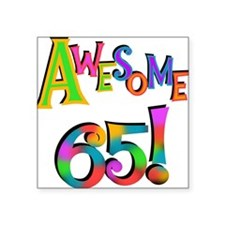 Awesome 65 Birthday Sticker
