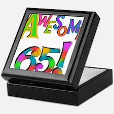Awesome 65 Birthday Keepsake Box