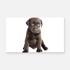 Labrador Puppy Rectangle Car Magnet