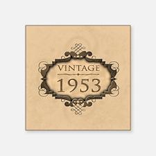 "1953 Birthday Vintage (Rustic) Square Sticker 3"" x"